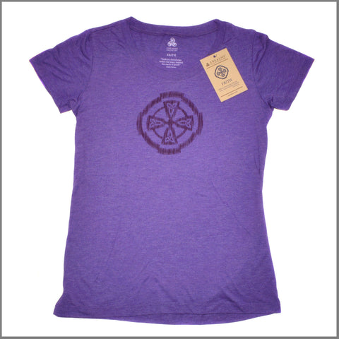 "3Realms ""Faith"" Symbol Women's TriBlend Crew Neck T-Shirt"