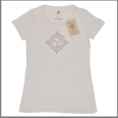 "3Realms ""Joy"" Symbol Women's TriBlend Crew Neck T-Shirt"