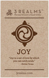 "3Realms ""Joy"" Ancient Symbol Wine Gift Bag"
