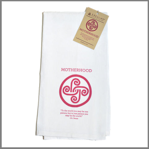 "3Realms ""Motherhood"" Symbol 100% Cotton Tea Towel"
