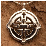 "3Realms ""Harmony"" Ancient Symbol - Sterling Silver Pendant Necklace, 16"""