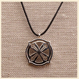 "3Realms ""Hero"" Ancient Symbol - Sterling Silver Pendant Necklace, 16"""
