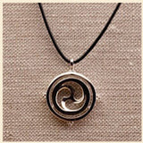 "3Realms ""Joy"" Ancient Symbol - Sterling Silver Pendant Necklace, 16"""