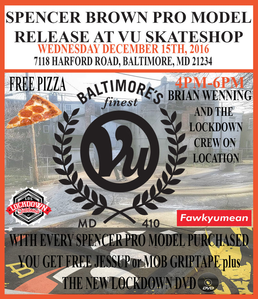 Spencer Pro Board Release at VU Skateshop 12/14/16