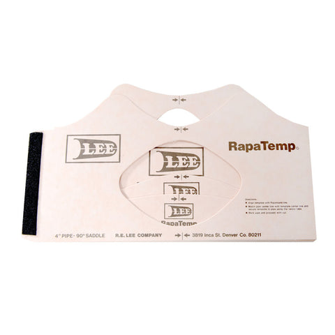 lee rapatemp pipe fitting template sets