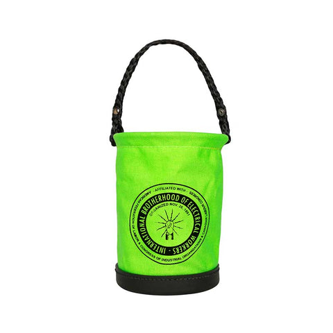 Safety Green Mini Bucket with IBEW Logo - 1231Q26
