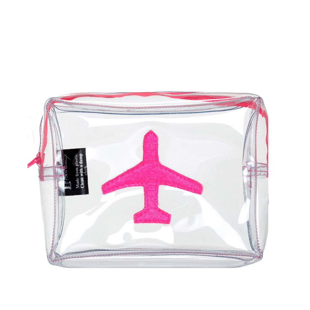Clear Bag With Pink Plane