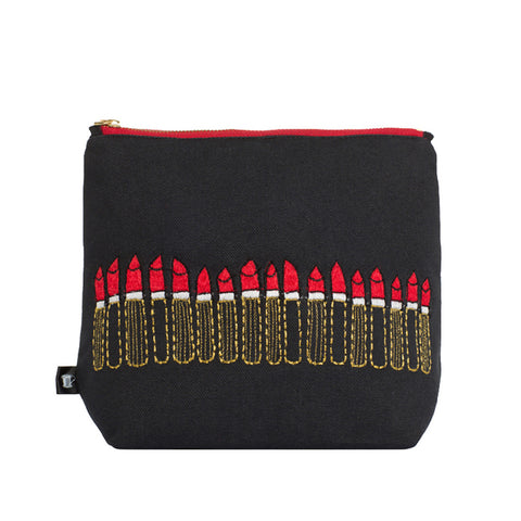 Loads of Lipstick Toiletry Bag Black