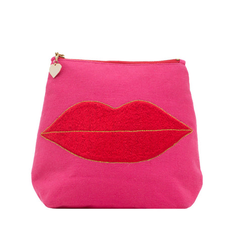 Luscious Lips Toiletry Bag Pink
