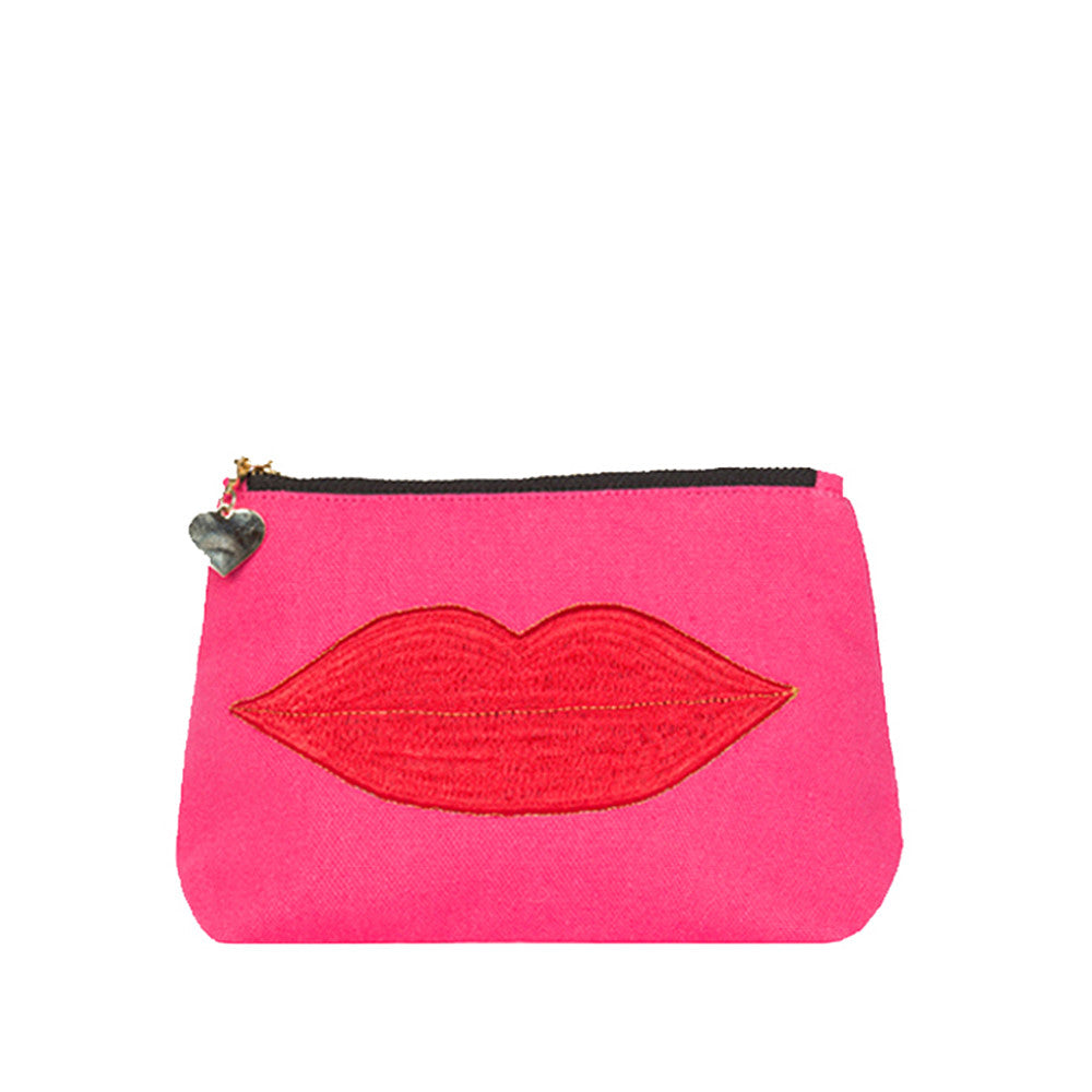 Luscious Lips Make-up Bag Pink