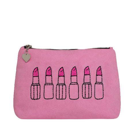 Lipstick Lover Make-up Bag Pink