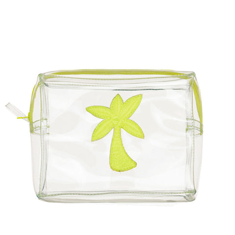 Clear Bag With Green Palm Tree