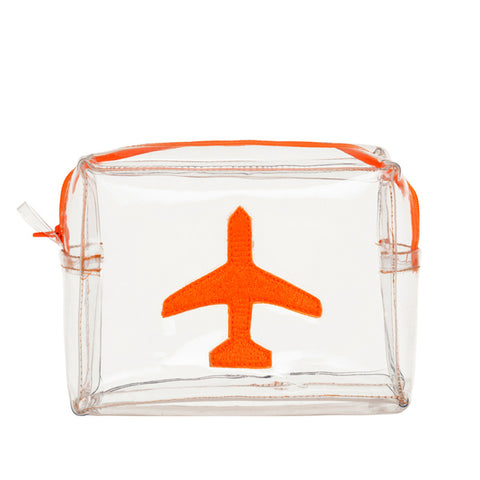 Clear Bag With Orange Plane