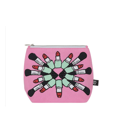 Lipstick Mania Make-up Bag Pink