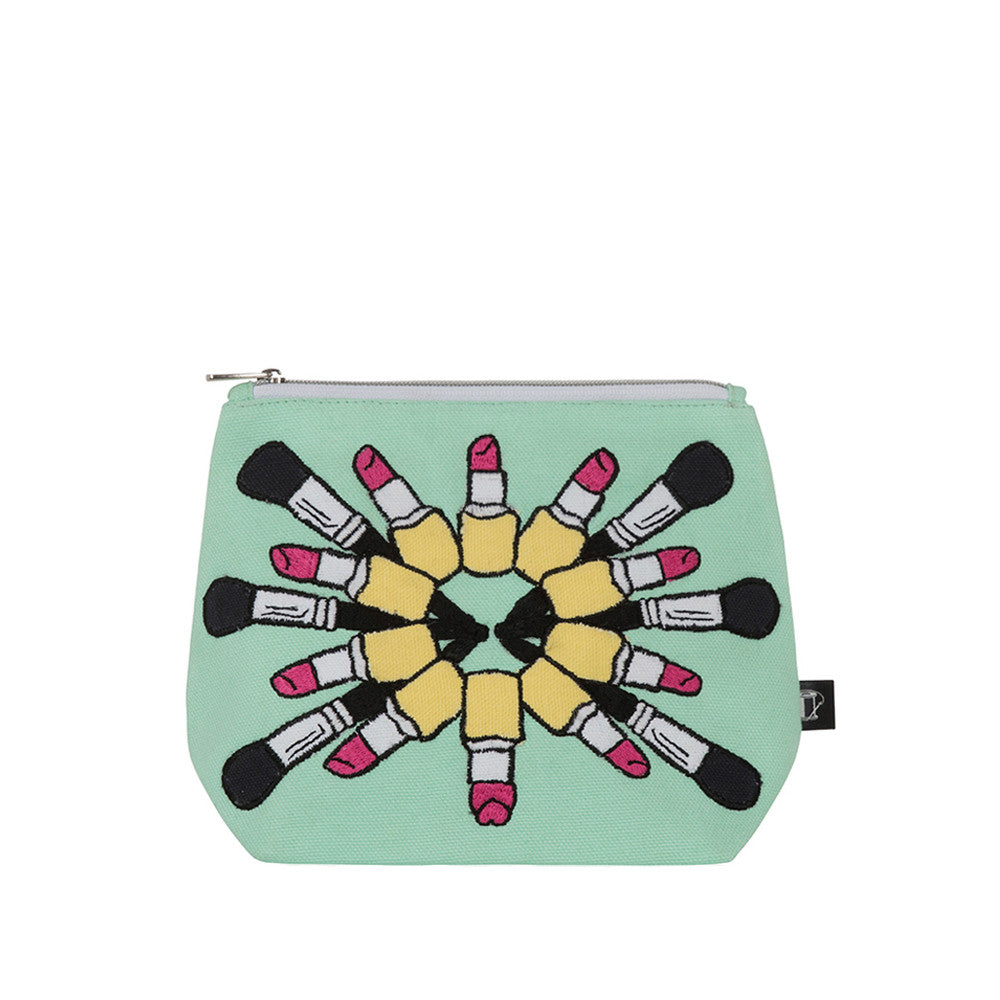 Lipstick Mania Make-up Bag Pastel Green