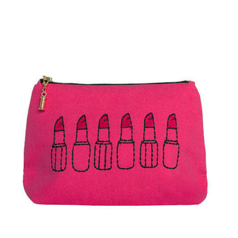 Lipstick Lover Make-up Bag Hot Pink