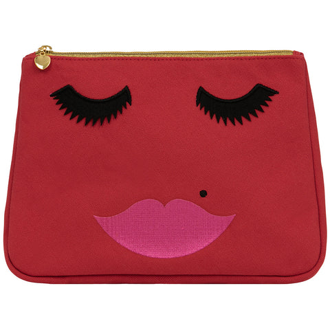 Lovely Lashes Toiletry Bag   Red