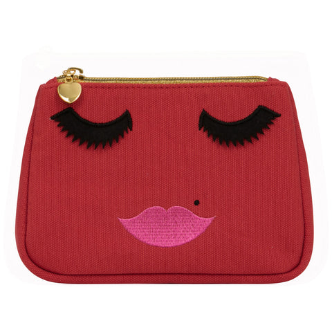 Lovely Lashes Make-up Bag Red