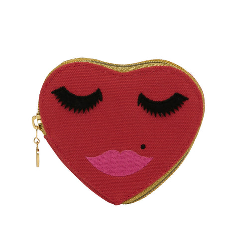 Lovely Lashes Purse Red