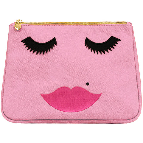 Lovely Lashes Toiletry Bag Pink