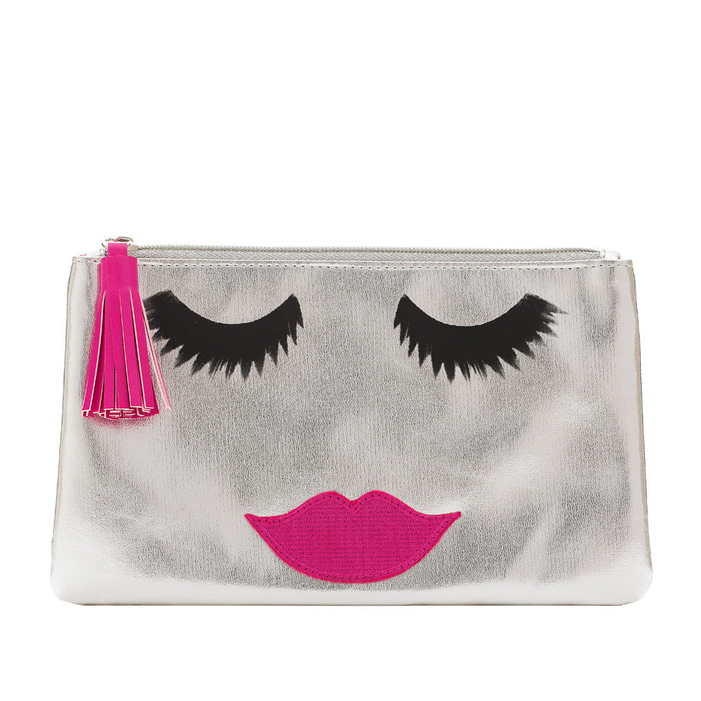 Lovely Lashes Clutch Silver