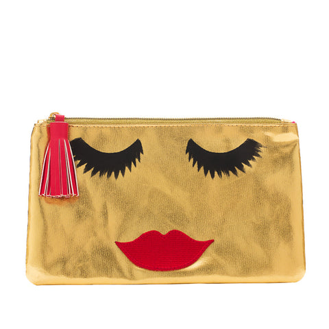 Lovely Lashes Clutch Gold