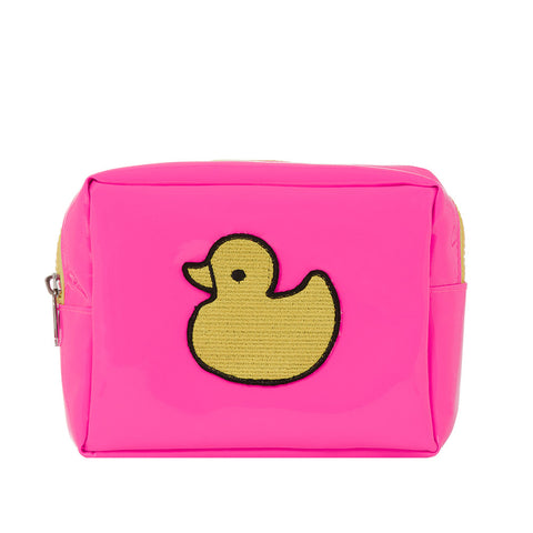 Pink Make-up Bag With Yellow Duck
