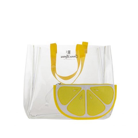 Clear Tote With Lemon Slice Bag