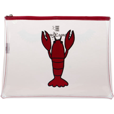 Clear Pouch With Red Lobster