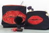 Luscious Lips Make-up Bag Black