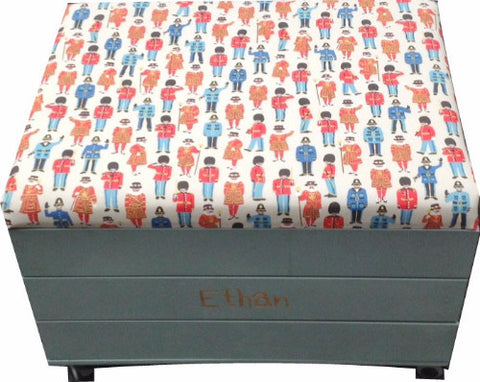 Toy Trunk with Cath Kidston's 'Guards and Friends' padded seat