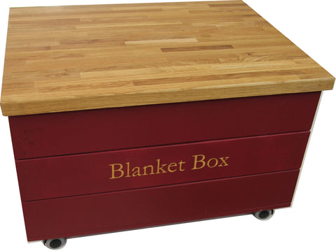 Oak Top Storage Trunk - coffee table, kids table or shoe storage