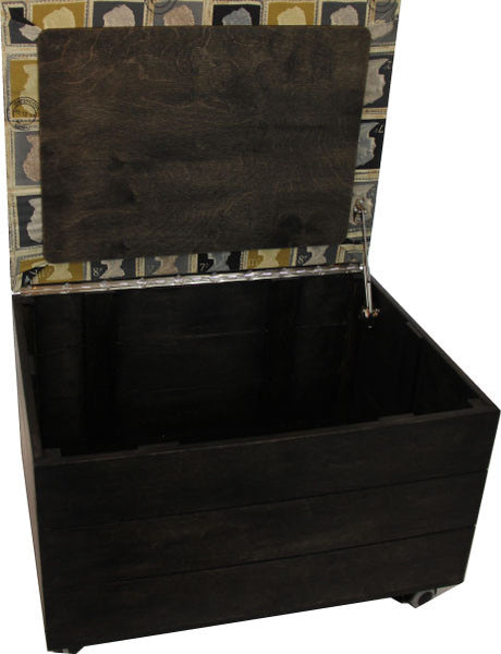 Storage Trunk with Stamps padded seat