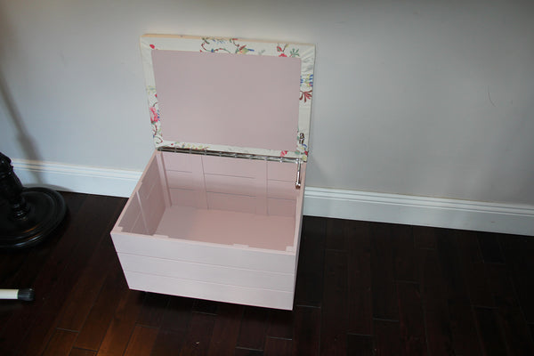 Toy Trunk with Cath Kidston's 'Birds and Roses' padded seat