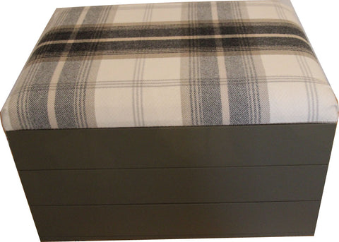 Storage Trunk with Tartan padded seat