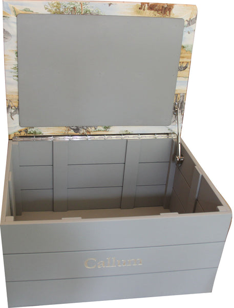 Toy Trunk with Safari padded seat