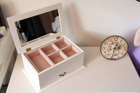 Large Jewellery Box - personalised and hand-painted