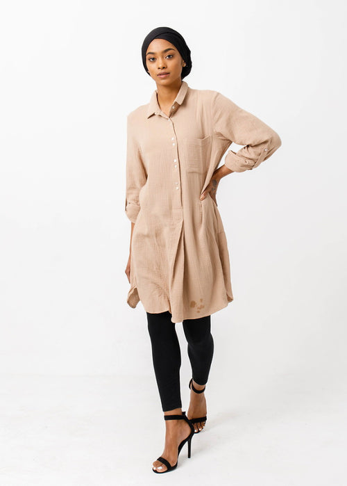 Beige Long Tunic