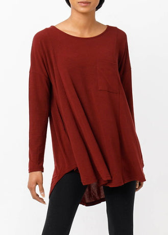 Burgundy Oversized Dolman Top