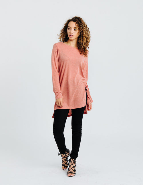 Rose Side Tie Tunic