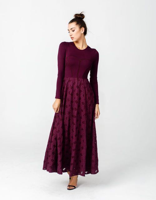 Nomad Dress in Gothic Plum