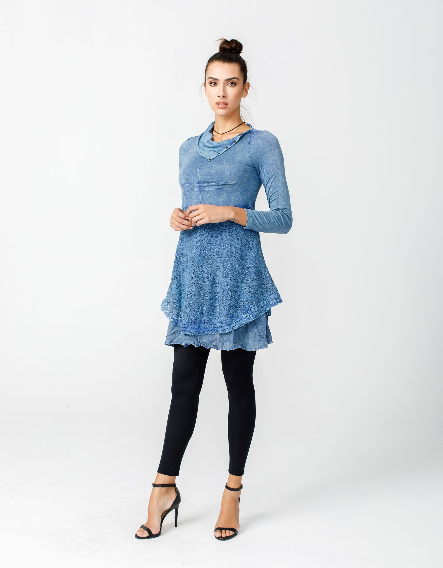 Bohemian Dreams Top - Washed Indigo
