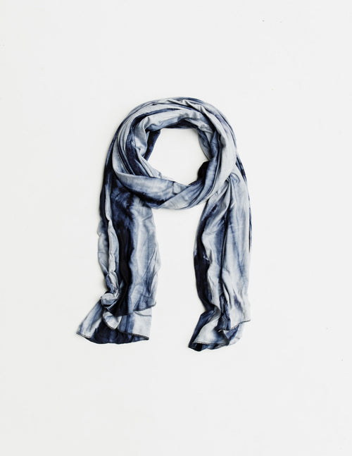 Midnight Marble Jersey Scarf