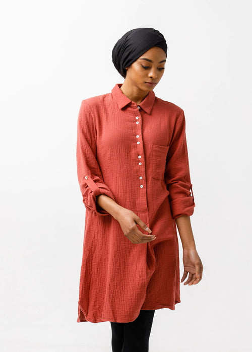 Rust Long Tunic