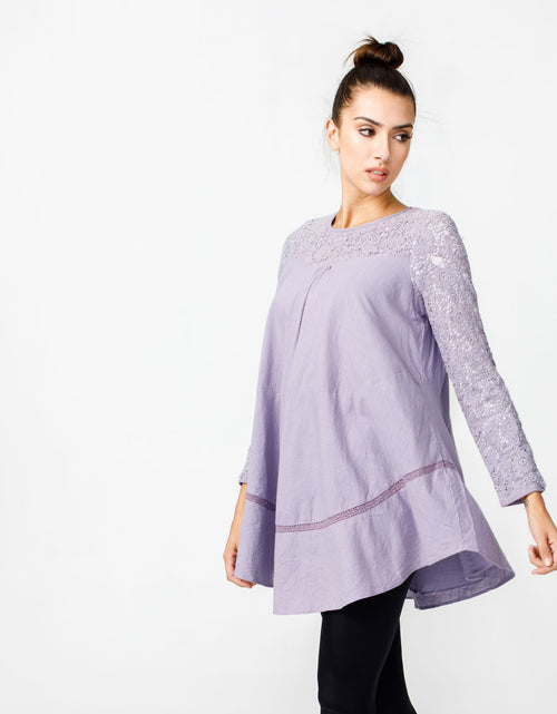 Wandering Star Top in Dusty Lilac