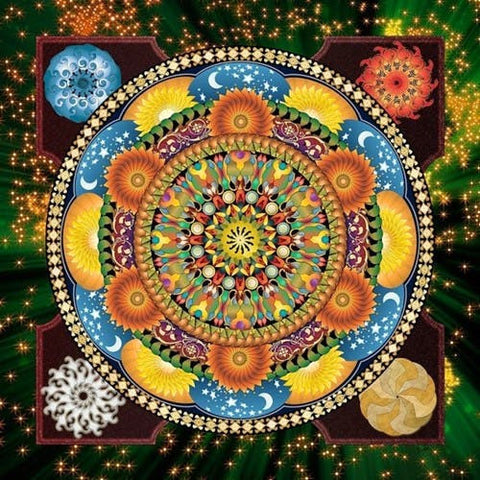 Magnifique Collection de Mandalas ! - 45x45 cm - Kit de broderie Kit de broderie au point de croix M3 Constellations Brodeuses.com