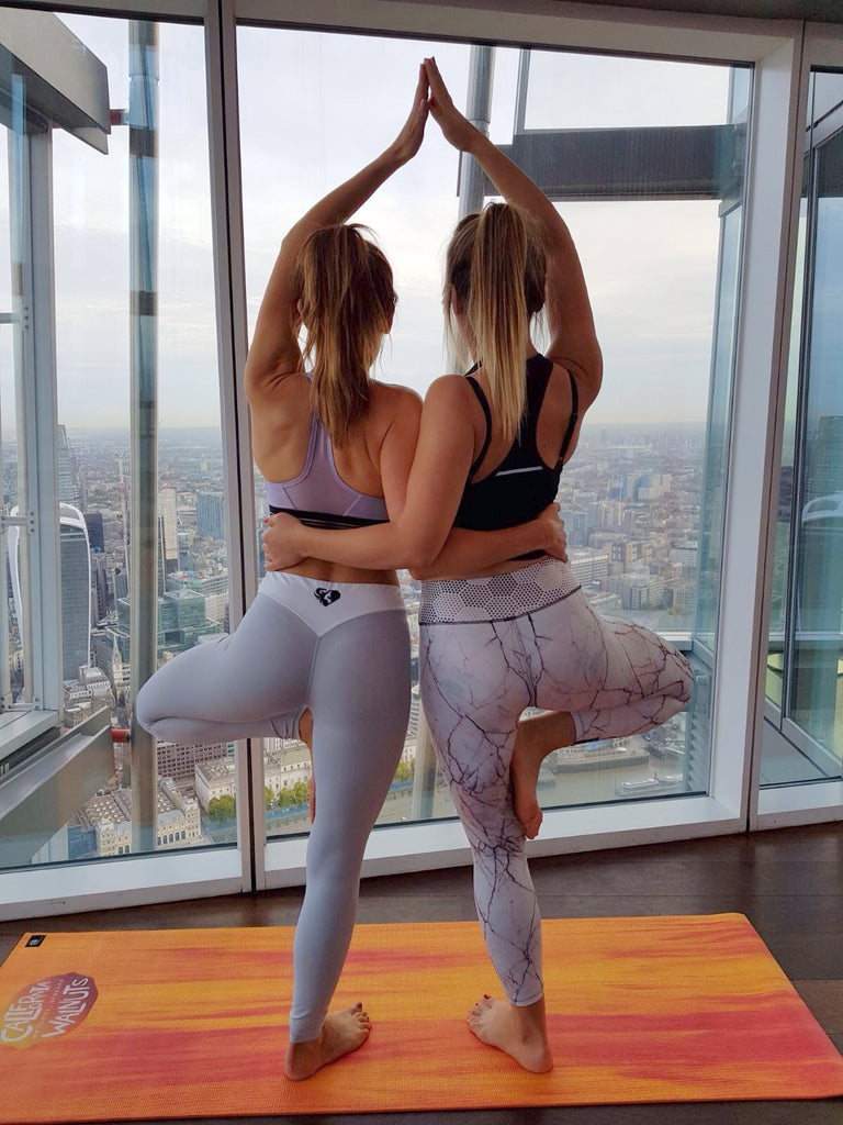 Yoga with a view at the shard with california walnuts