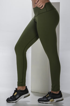 Butt lift green leggings