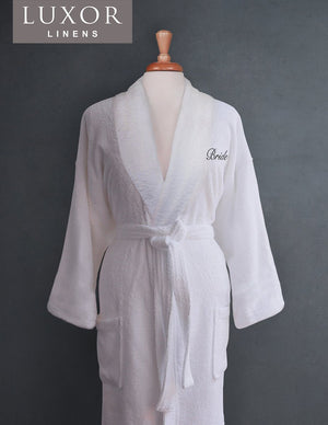 Monogrammed Egyptian Cotton Spa Robes & Free Gift With Purchase - Luxor Linens
