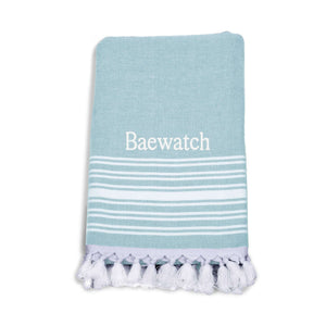 Imani Turkish Peshtemal Bath Towel- with Embroidery and Gift Packaging - Luxor Linens